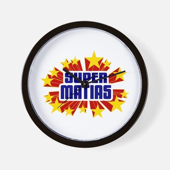 Matias the Super Hero Wall Clock