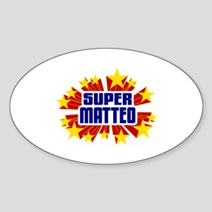 Matteo the Super Hero Sticker