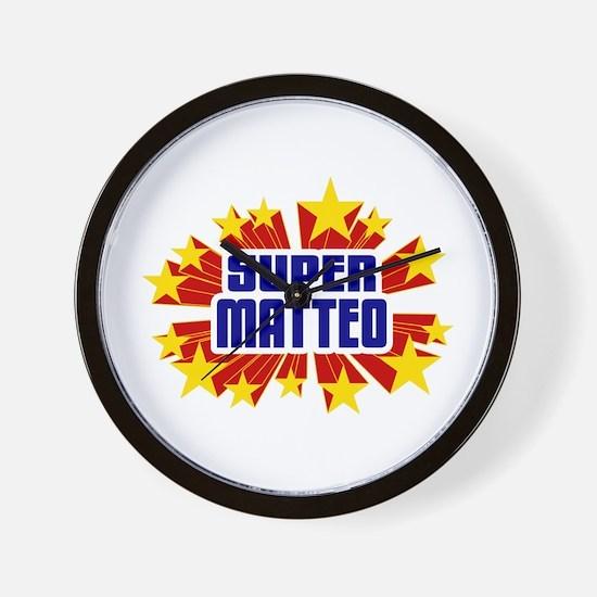 Matteo the Super Hero Wall Clock