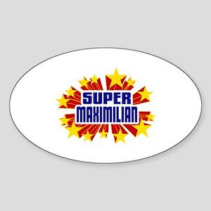 Maximilian the Super Hero Sticker