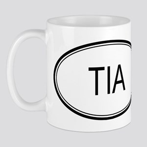 Tia Oval Design Mug