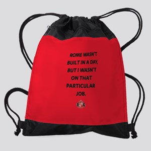 Rome Wasn't Built In A Day SAFC Ful Drawstring Bag