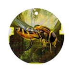 bee insect Ornament (Round)