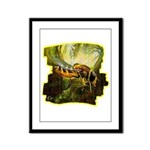 bee insect Framed Panel Print