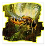 bee insect Square Car Magnet 3