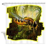 bee insect Shower Curtain
