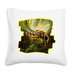 bee insect Square Canvas Pillow