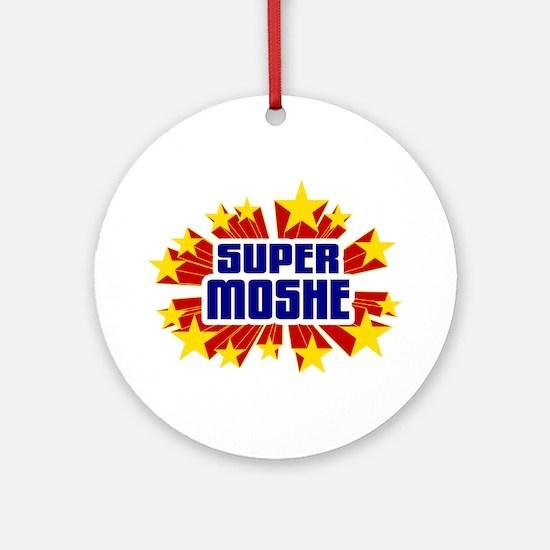 Moshe the Super Hero Ornament (Round)