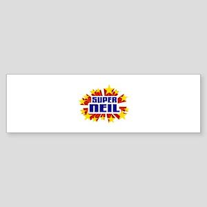 Neil the Super Hero Bumper Sticker