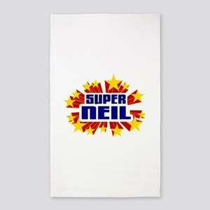 Neil the Super Hero 3'x5' Area Rug