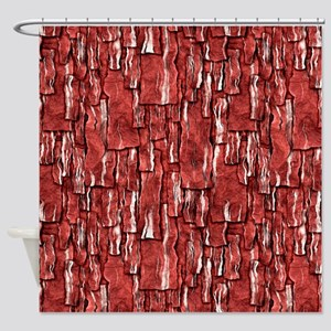 Got Meat? - Overlapping bacon Shower Curtain