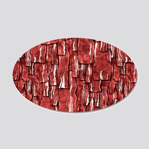 Got Meat? - Overlapping bacon 20x12 Oval Wall Deca