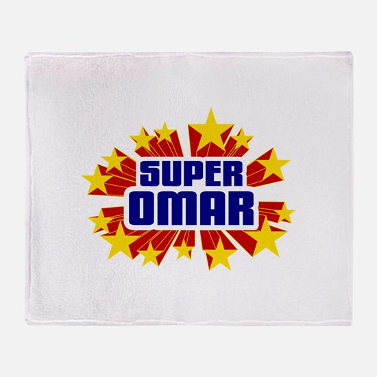 Omar the Super Hero Throw Blanket