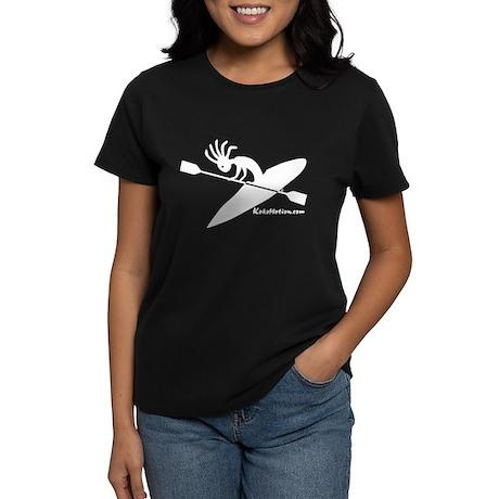 Kokopelli Kayaker Women's Dark T-Shirt