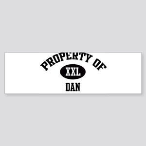 Property of Dan Bumper Sticker