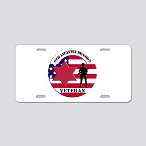 6th Infantry Division Aluminum License Plate