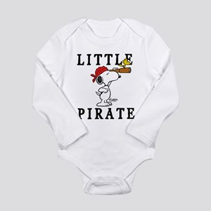 Snoopy Pirate Long Sleeve Infant Bodysuit