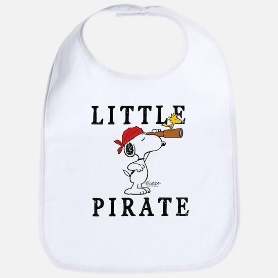 Snoopy Pirate Cotton Baby Bib