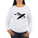 Kokopelli Kayaker Women's Long Sleeve T-Shirt