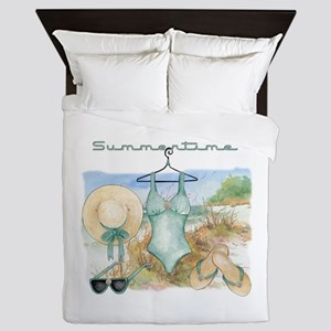 Summertime #3 Queen Duvet