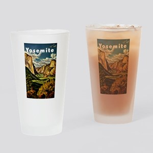 Vintage Yosemite Travel Drinking Glass