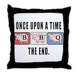 BBQ Fairy Tale Throw Pillow