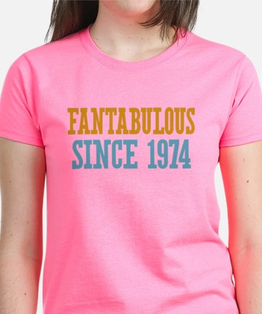 Fantabulous Since 1974 Women's Dark T-Shirt