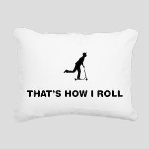 Scooter Rectangular Canvas Pillow