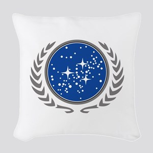 United Federation of Planets Woven Throw Pillow
