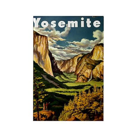 Vintage Yosemite Travel Rectangle Magnet