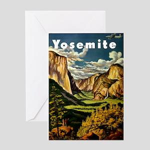 Vintage Yosemite Travel Greeting Card