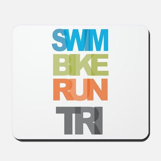 SWIM BIKE RUN TRI Mousepad