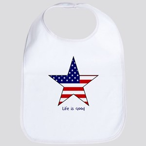 Patriotic Star~Life is Good Bib