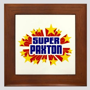 Paxton the Super Hero Framed Tile
