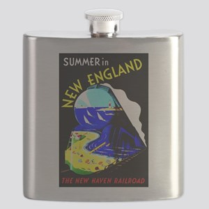 New England Train Travel Flask