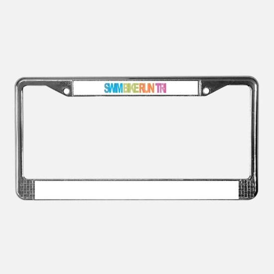 SWIM BIKE RUN TRI License Plate Frame