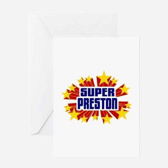 Preston the Super Hero Greeting Card