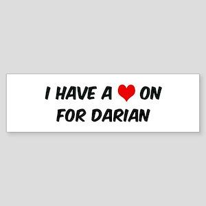 Heart on for Darian Bumper Sticker