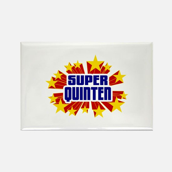 Quinten the Super Hero Rectangle Magnet