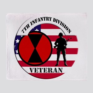 7th Infantry Division Throw Blanket