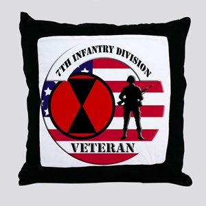 7th Infantry Division Throw Pillow