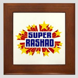 Rashad the Super Hero Framed Tile