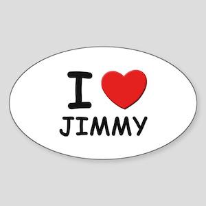 I love Jimmy Oval Sticker