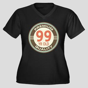 99th Birthday Vintage Women's Plus Size V-Neck Dar