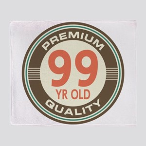 99th Birthday Vintage Throw Blanket