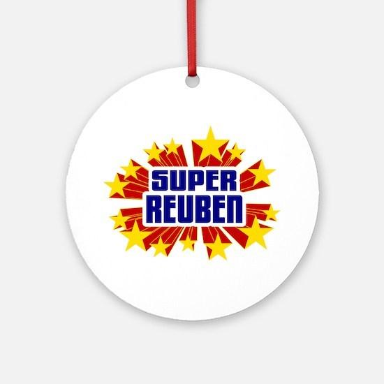 Reuben the Super Hero Ornament (Round)