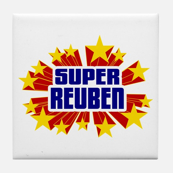 Reuben the Super Hero Tile Coaster