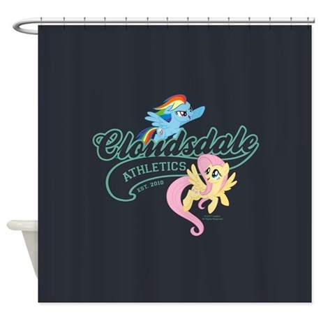 my little pony cloudsdale athletics shower curtain by mylittlepony