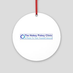 Hokey Pokey Clinic Ornament (Round)
