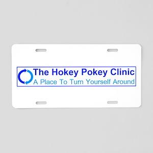 Hokey Pokey Clinic Aluminum License Plate